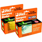 Grabber SPACE Brand Emergency Blanket Silver/Silver