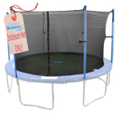 Upper Bounce 12'  Trampoline Enclosure Safety Net Fits For 3.7m Round Frames Using 4 Poles or 2 Arches