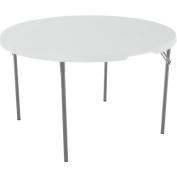 Lifetime 120cm Round Fold-In-Half Table, White Granite