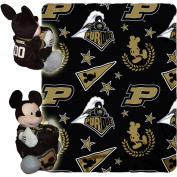 Disney NCAA Hugger Pillow and 100cm x 130cm Throw Set, Purdue Boilermakers