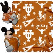 Disney NCAA Hugger Pillow and 100cm x 130cm Throw Set, Texas Longhorns