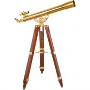 Barska 36 Power, 90080 Brass Refractor Telescope, Anchormaster with Mahogany Floor Tripod