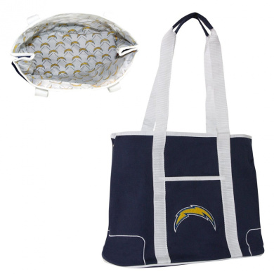 NFL - San Diego Chargers Navy Hampton Canvas Tote