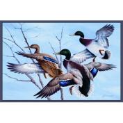Custom Printed Rugs MALLARDS Mallards Wildlife Rug