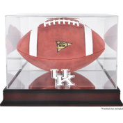 NCAA - Kentucky Wildcats Mahogany Base Logo Football Display Case, with Mirror Back