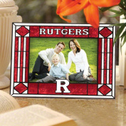 NCAA - Rutgers Scarlet Knights Art Glass Horizontal Frame