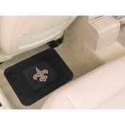Caseys Distributing 4610409993 New Orleans Saints Heavy Duty Vinyl Rear Seat Car Utility Mat