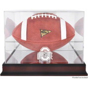 NCAA - Ohio State Buckeyes Mahogany Logo Football Display Case with Mirror Back