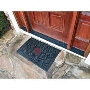 Fanmats 11372 COL - 19 in. x30 in. - New Mexico State University Medallion Door Mat