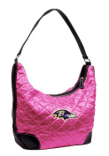 NFL - Baltimore Ravens Pink Quilted Hobo Purse