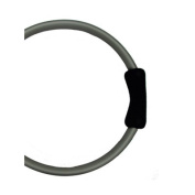 Yoga Direct Pilates Toning Ring With Black Cushioned Grips - Grey