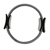 Yoga Direct Pilates Toning Ring With Stabilising Grips - Grey