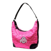 NCAA - Ohio State Buckeyes Pink Quilted Hobo Purse