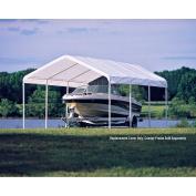 ShelterLogic Super Max Canopy Accessories Replacement Cover, White, 3.7m x 6.1m