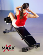 XMark Ab, Hyperextension and Preacher Curl Weight Bench XM-7631