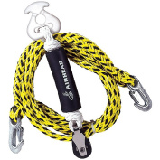 Airhead Tow Harness Self-Centering Pulley, 12', Black and Yellow