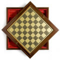 60cm Italian Worm Wood/Brass Chess Cabinet
