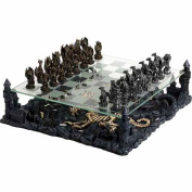 3D Dragon Pewter Chess Set