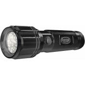 Hoffco 08-12153 AMP 25 Lumens 12-LED Flashlight, Black