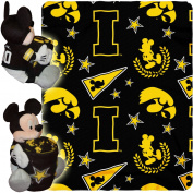Disney NCAA Hugger Pillow and 100cm x 130cm Throw Set, Iowa Hawkeyes