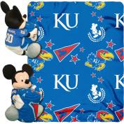 Disney NCAA Hugger Pillow and 100cm x 130cm Throw Set, Kansas Jayhawks