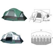 GigaTent White Cap MT 610 15' x 9' Family Cabin Tent, Sleeps 5 - 6