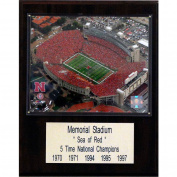 C & I Collectables 1215NEBMEMST NCAA Football Memorial Stadium -Nebraska Stadium Plaque