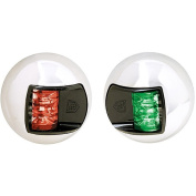 Attwood 3500 Series 2-Mile LED Vertical Mount, Bi-Colour Red/Green Combo Sidelight- Pair - 12V - Stainless Steel Housing