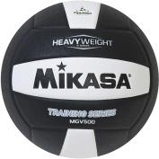 Mikasa MGV500 Heavy Weight Training Indoor Volleyball, Black/White