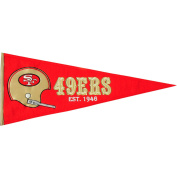 San Francisco 49ers Official NFL 80cm x 33cm Wool Throwback Pennant by Winning Streak