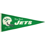 New York Jets Official NFL 80cm x 33cm Wool Throwback Pennant by Winning Streak