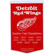 Detroit Red Wings Official NHL 60cm x 90cm Dynasty Wool Banner Flag by Winning Streak