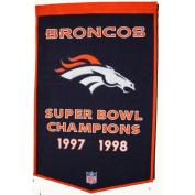 Winning Streak WSS-77070 Denver Broncos NFL Dynasty Banner 24x36