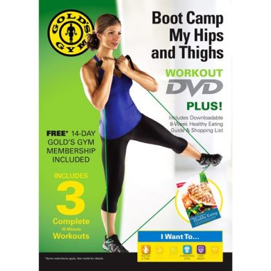 Gold's Gym Boot Camp My Hips and Thighs! DVD