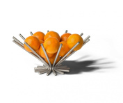 Starburst Fruit Bowl - Satin Nickel