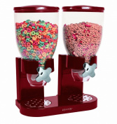 Zevro KCH-06125/GAT203 Indispensable Dry Food Dispenser, Dual Control, Red/Chrome