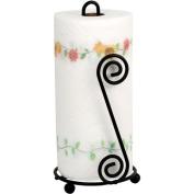 Spectrum Steel Scroll Pattern Kitchen Paper Towel Holder