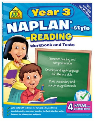 NAPLAN*-style Year 3 Reading Workbook and Tests (School Zone)