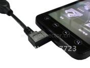 I9100 Galaxy S2 Micro Usb Host Cable Otg Left Angled 10cm