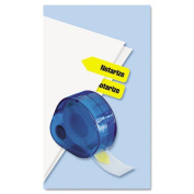 Redi-Tag 60435 Arrow Page Flags in Dispenser Notarize Yellow 120 Flags-Dispenser