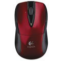 M525 Wireless Mouse, Compact, Right/Left, Red