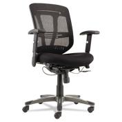 Eon Series Multifunction Wire Mechanism, Mid-Back Mesh Chair, Black