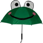 Kids Frog Umbrella with Easy Grip Handle