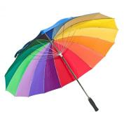 Elite Rain Umbrella Manual-Open Fibreglass Golf Umbrella - Rainbow Golf