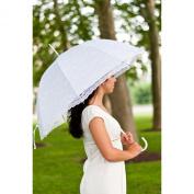 Elite Rain White Lace Wedding Umbrella