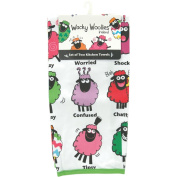 Dublin Gift Company Wacky Woollies Kitchen Towels Set of Two 3465