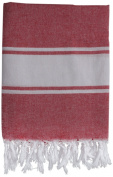 Nine Space Ayrika Classic Fouta Towel in Red