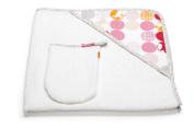 Stokke Care Hooded Towel in Silhouette Pink