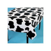 Fun Express 85/1771 Plastic Cow Print Table Cover - Farm Party