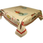 Bait and Tackle Fishing Tablecloth Retro Tablecloth for Kitchen or Den Decor